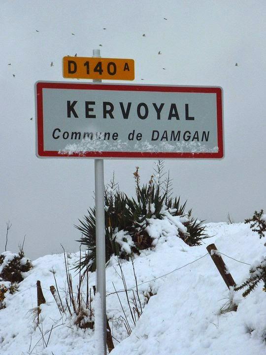 Kervoyal sous la neige