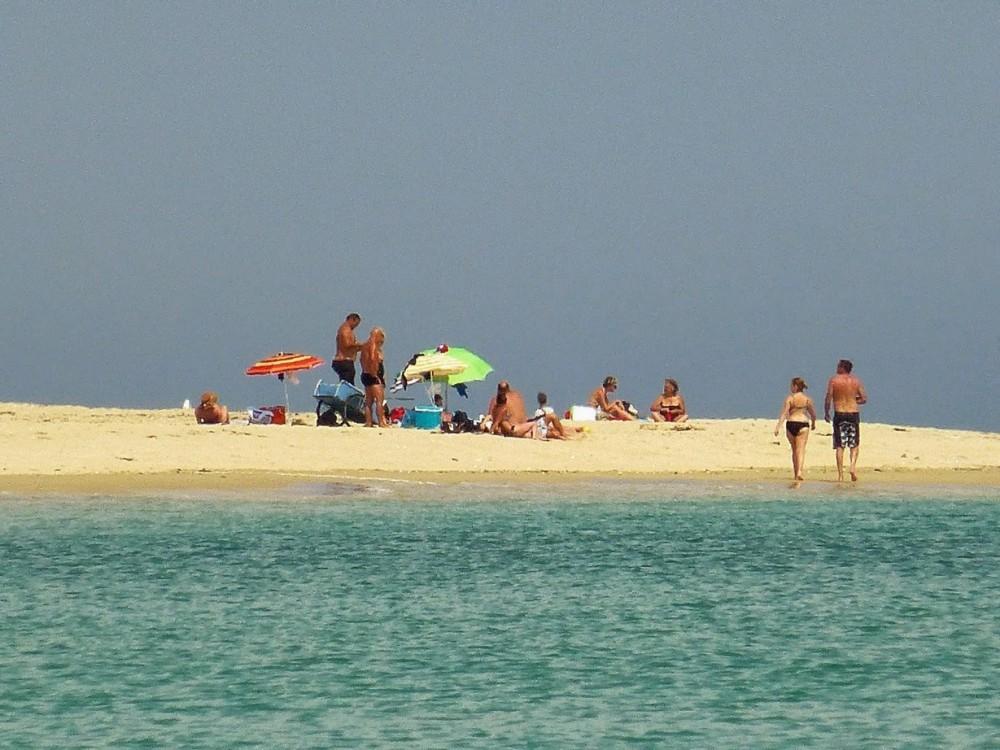 Pointe de la plage concave à Houat