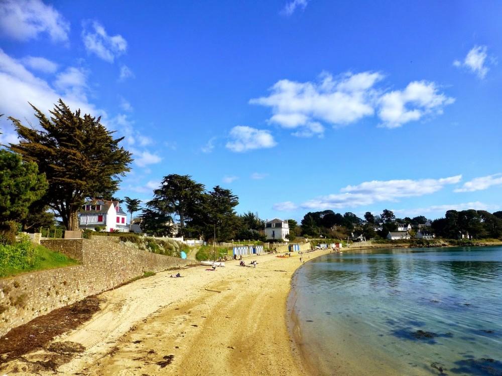 La grande plage de l'île aux moines