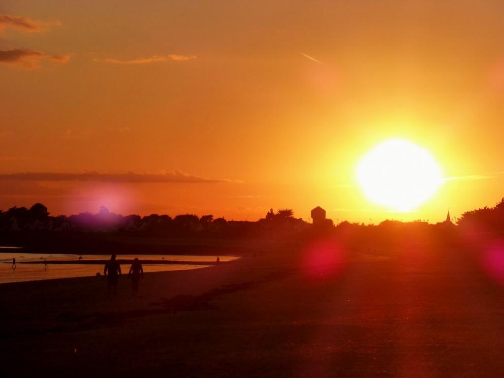 Premier coucher de soleil d'août!