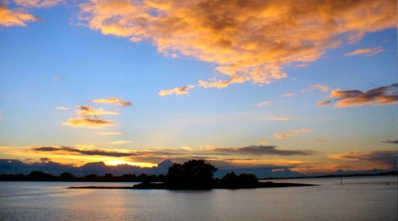Coucher de soleil sur l'île de Quistinic