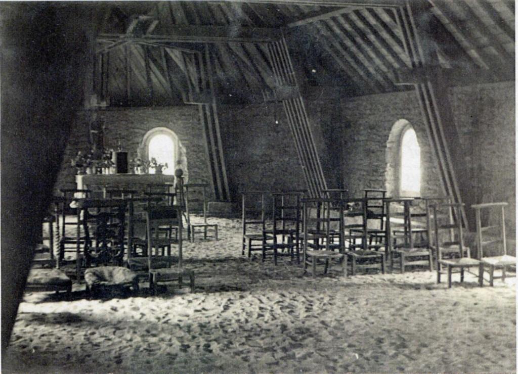 La chapelle en 1953, durant les travaux