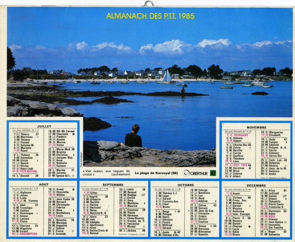 PTT Kervoyal 1985 vœux