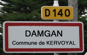Damgan commune de kervoyal