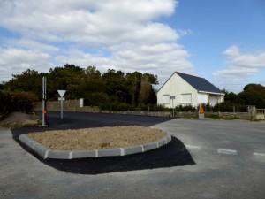 Nouveau rond-point à l'angle du Bd de l'Atalante et de la rue des roseaux