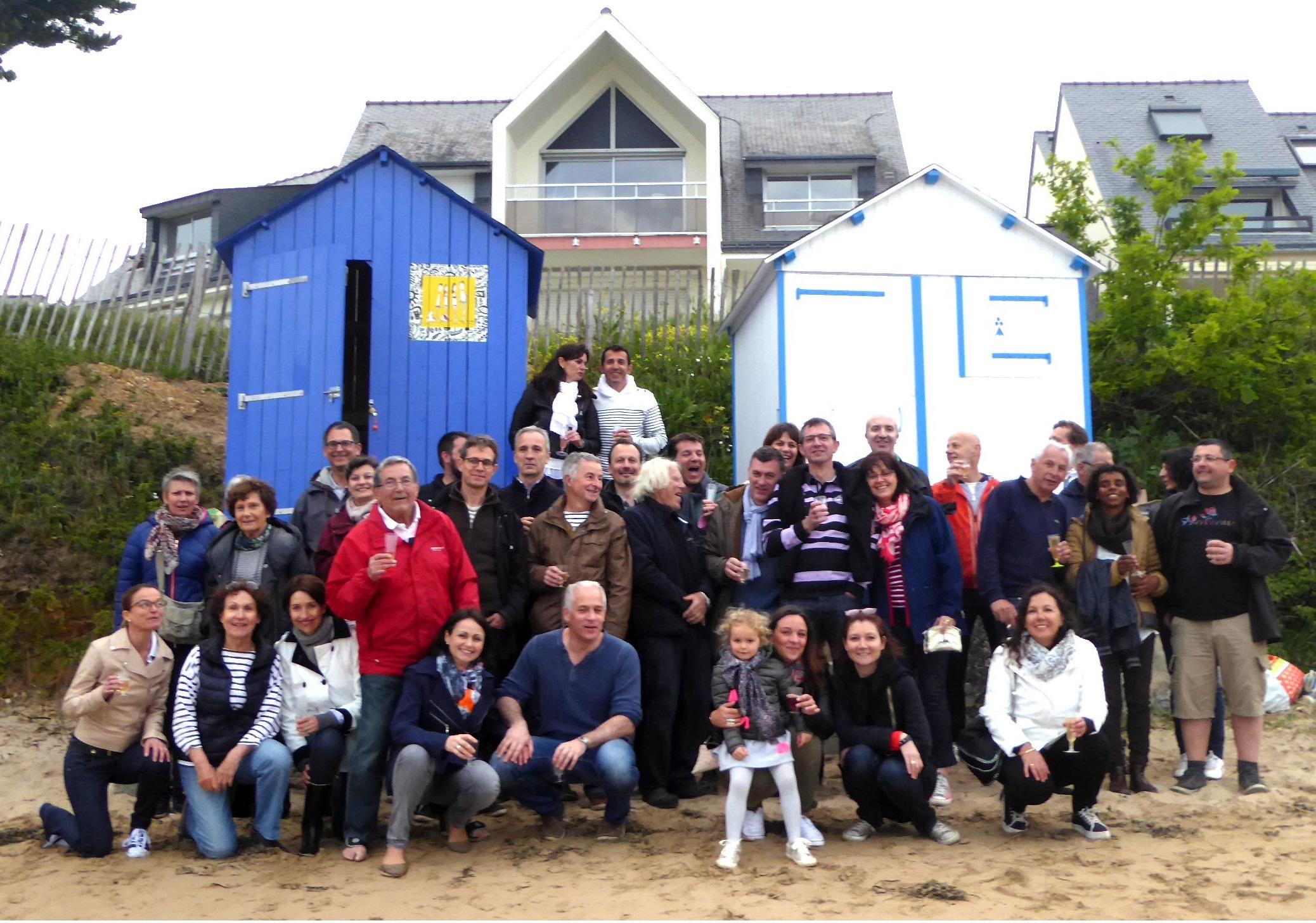 cabine de plage à Kervoyal