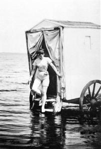 femme en cabine