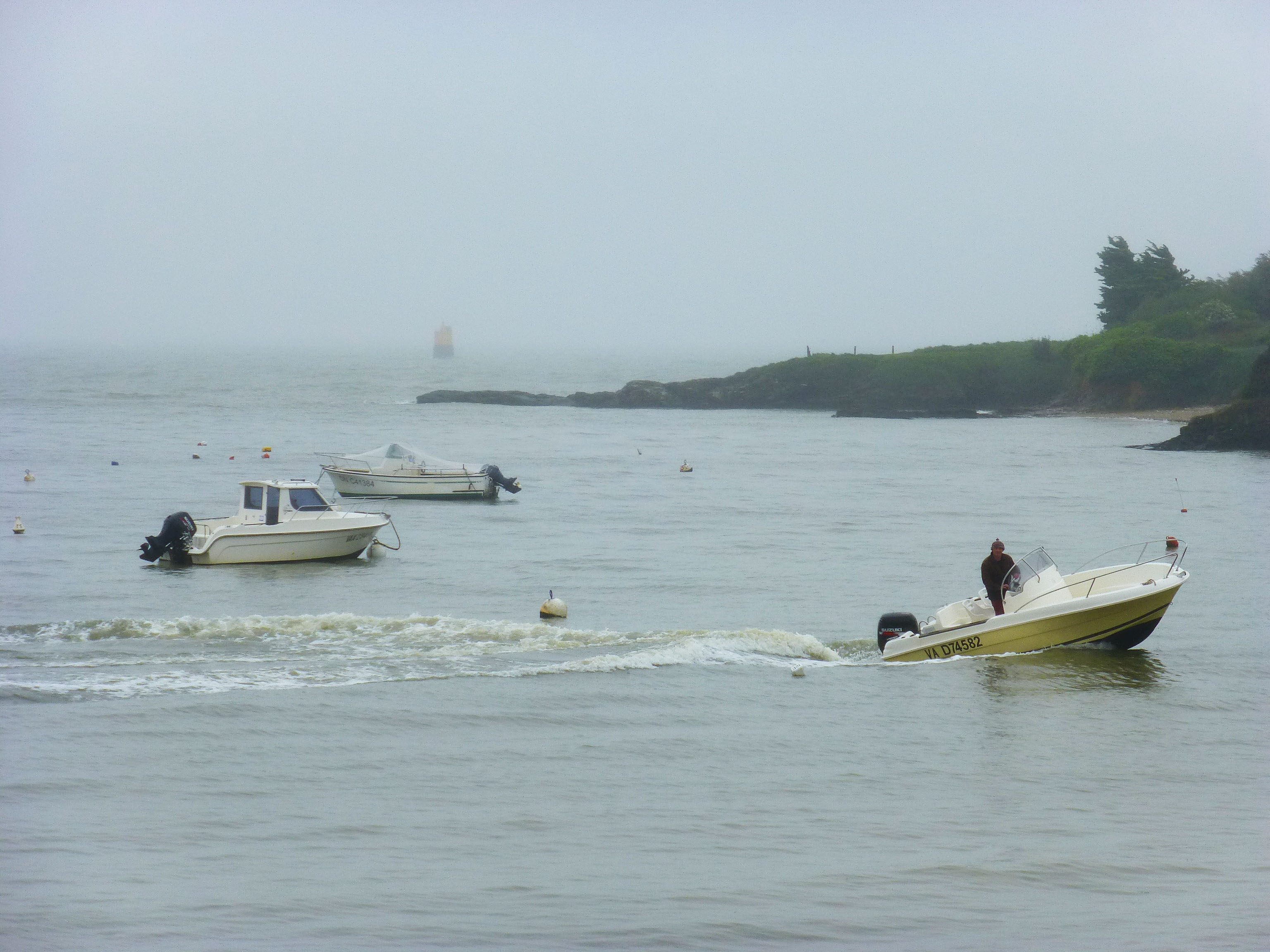 Bruno Lesourd de retour de pêche à Kervoyal en Damgan