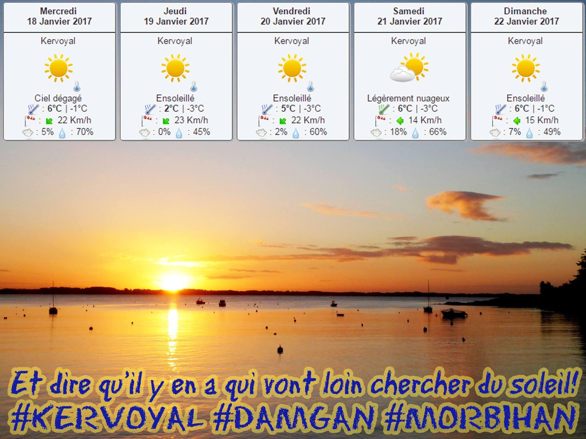 Journée estivale en janvier à kervoyal en damgan