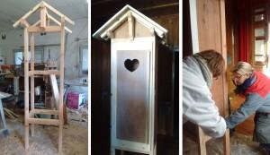 construction cabine à livres kervoyal en damgan