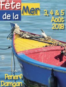 affiche fête de la mer 2018 damgan port de pénerf