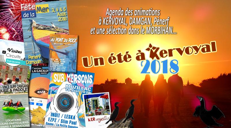 affiche festivités damgan été 2018 kervoyal pénerf morbihan muzillac