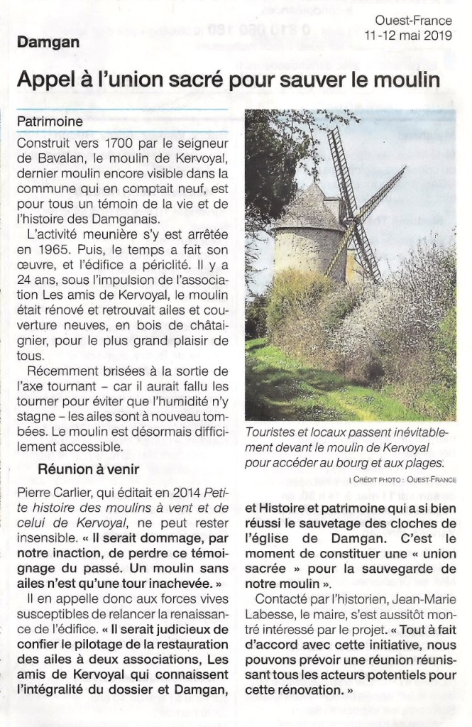 2019-05-11 Ouest-France - Moulin