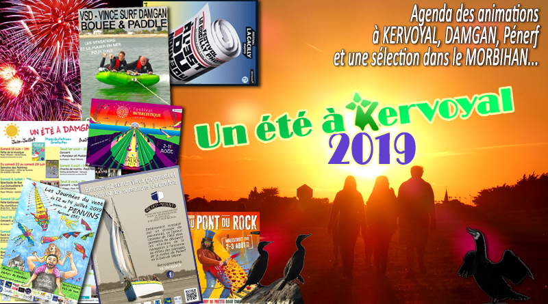 Les animations de l'été 2019 à Kervoyal, Damgan et Morbihan