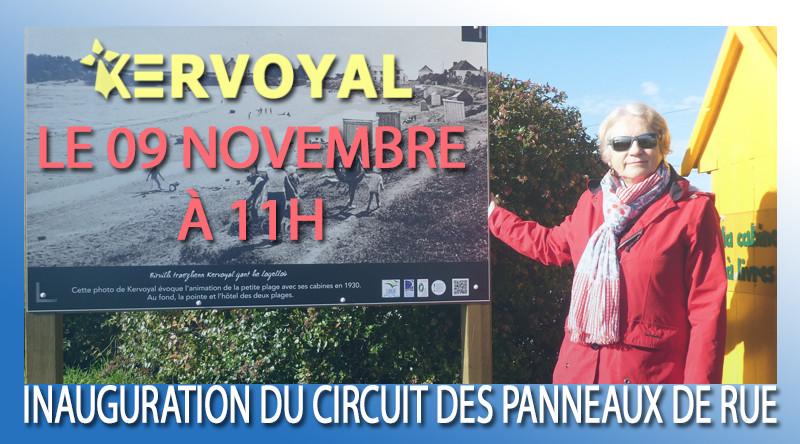 Inauguration des panneaux de rue à Kervoyal