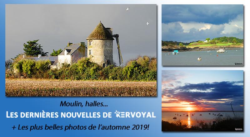 aritcle kervoyal en damgan les plus belles photos de l'automne, les halles et le moulin