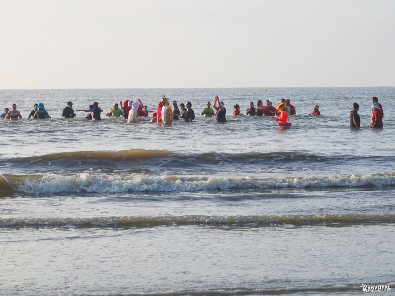 bain de noêl kervoyal en damgan 29-12-2019- marche aquatique des vénètes (12)