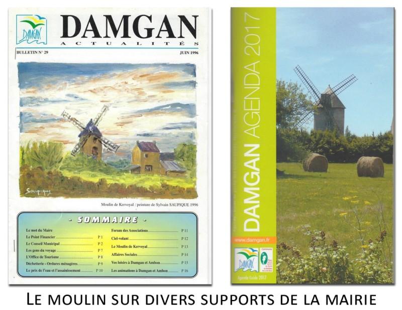 le moulin de kervoyal sur les documents de la mairie de damgan
