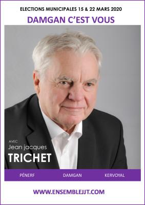 Affiche de campagnepour damgan jean jacques Trichet