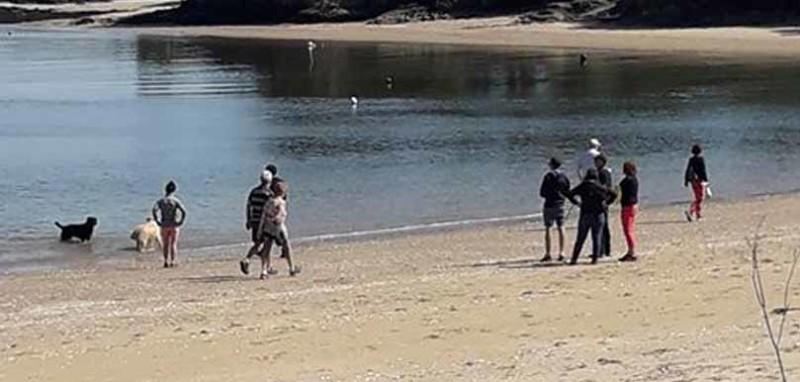 plage de kervoyal à Damgan fermée au public