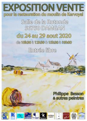 affiche expo moulin de kervoyal aout 2020 v2 mini