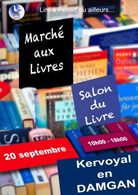 affiche salon du livre kervoyal 20 septembre 2019