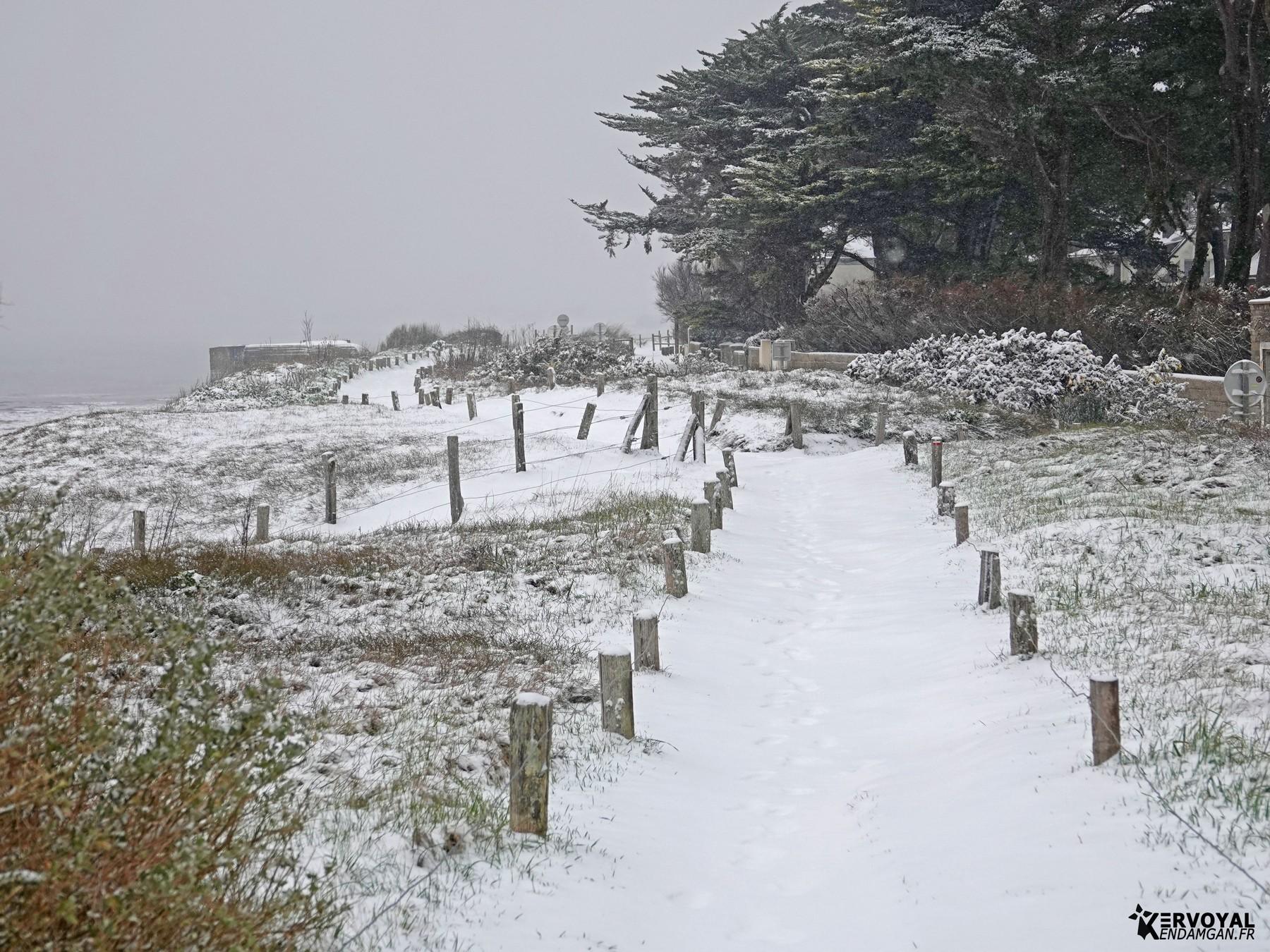 neige à kervoyal 11 février 2021 damgan morbihan (1)