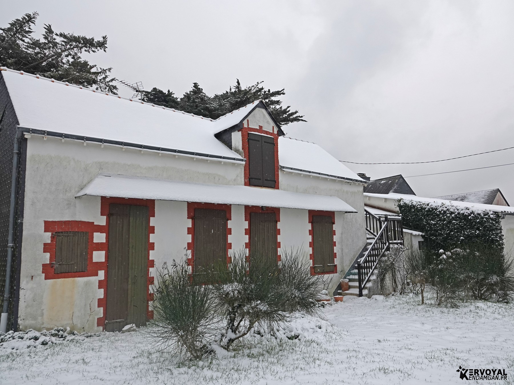 neige à kervoyal 11 février 2021 damgan morbihan (11)