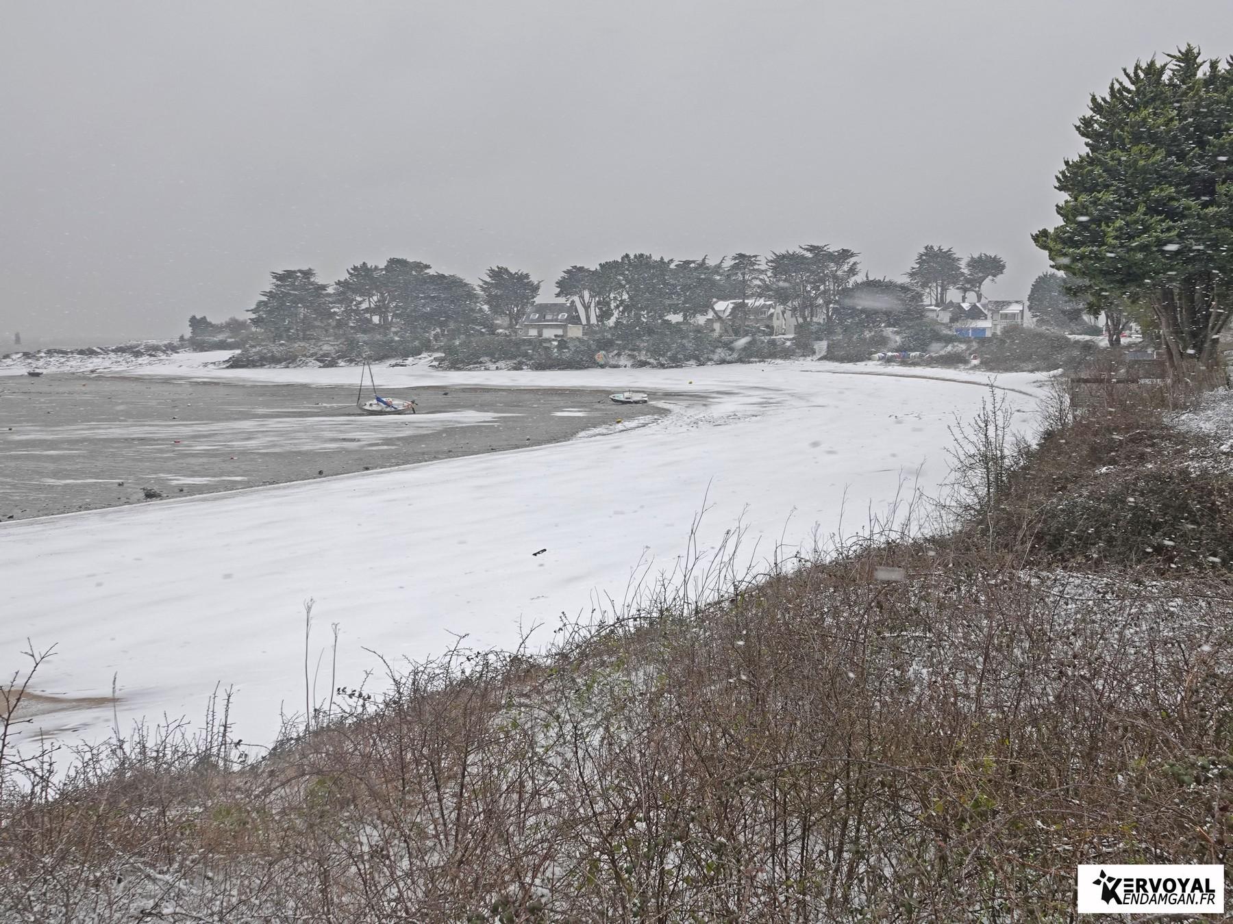 neige à kervoyal 11 février 2021 damgan morbihan (18)