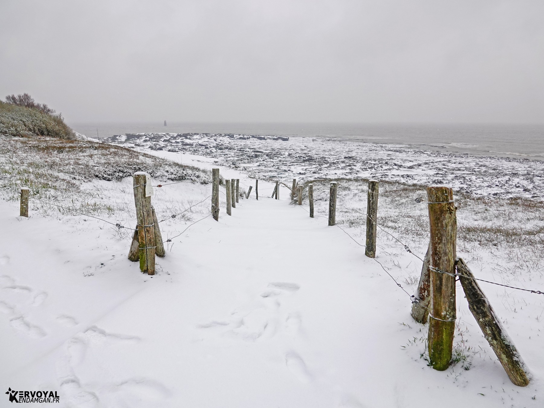 neige à kervoyal 11 février 2021 damgan morbihan (2)
