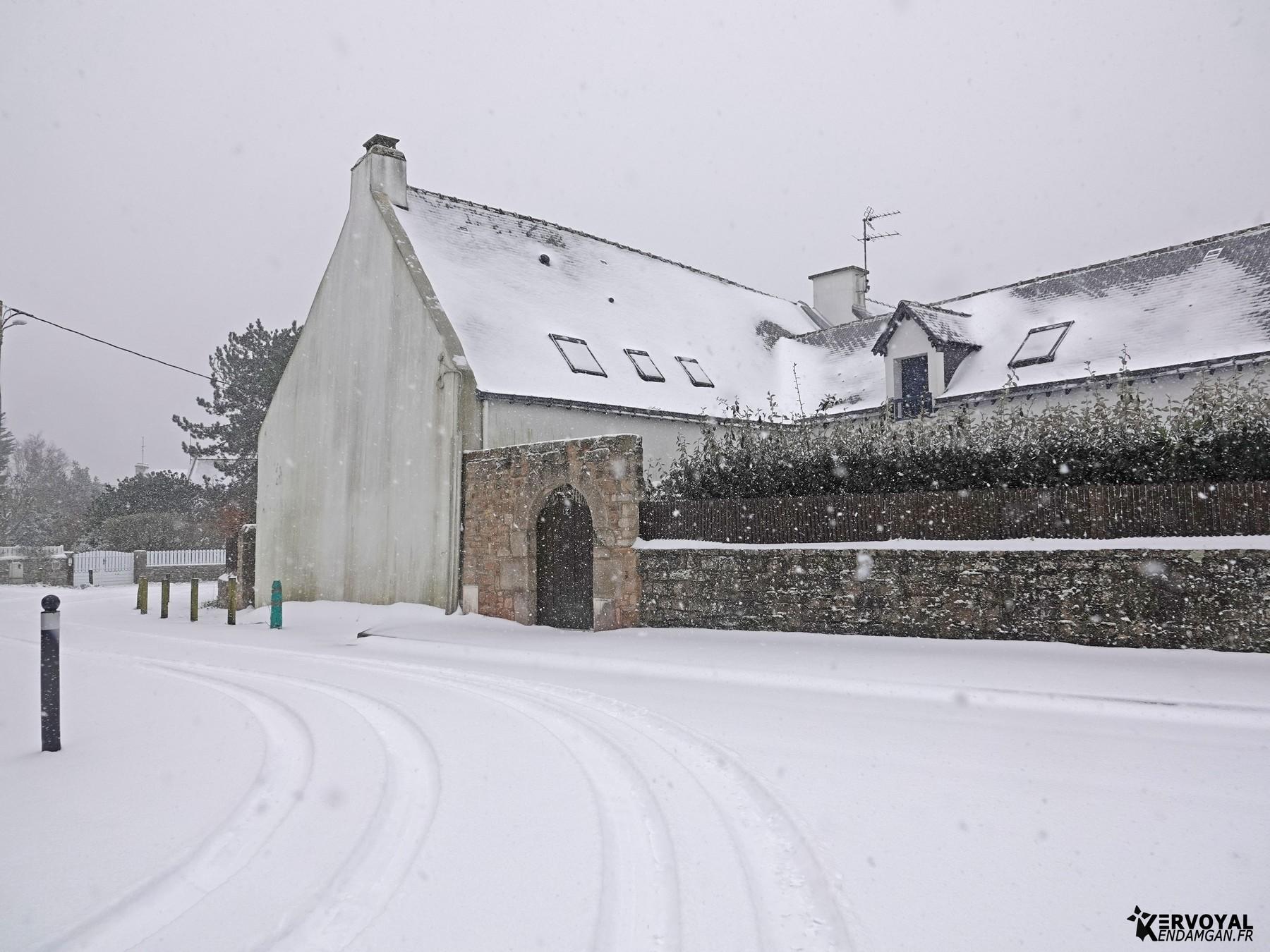 neige à kervoyal 11 février 2021 damgan morbihan (29)