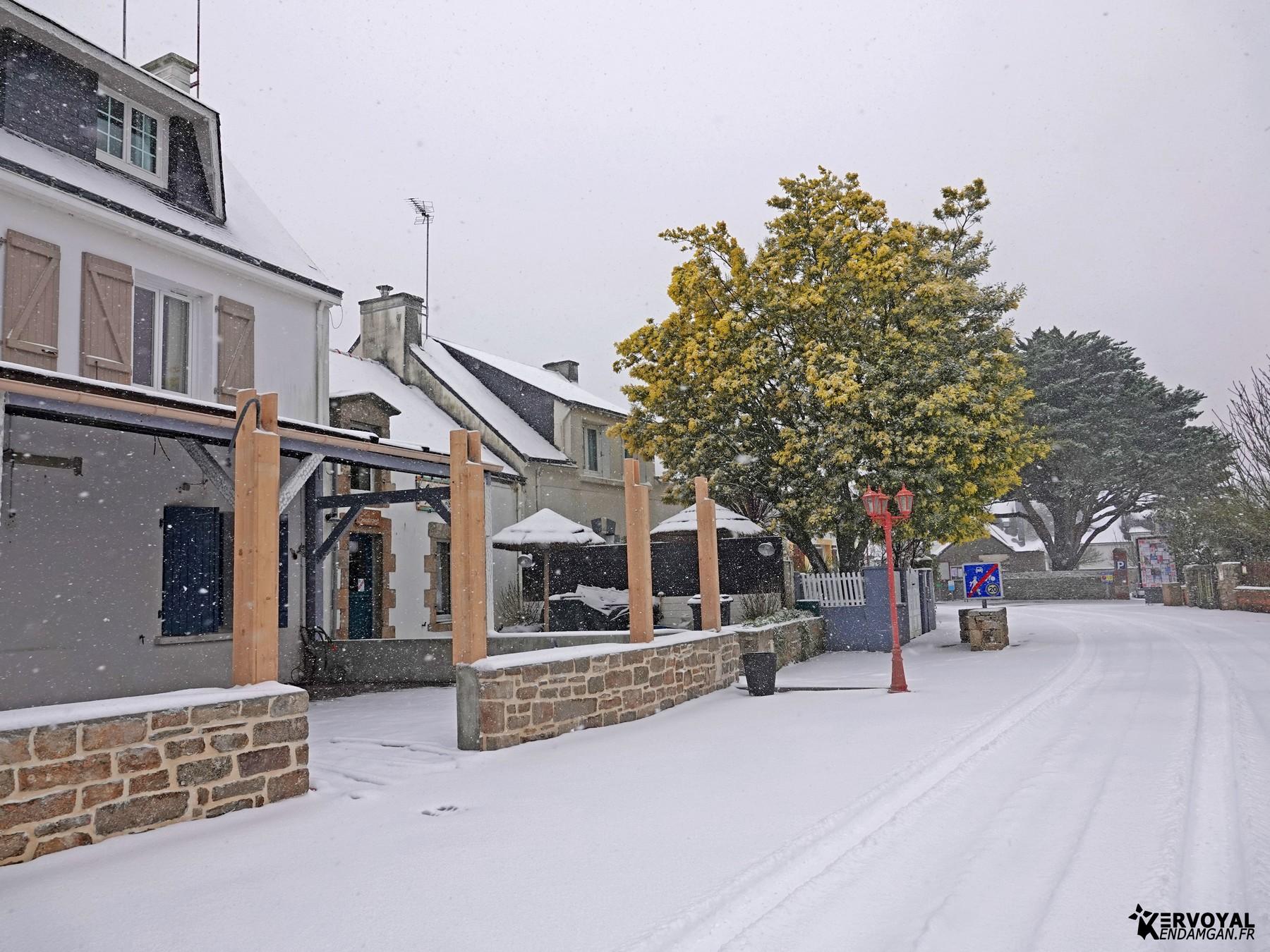 neige à kervoyal 11 février 2021 damgan morbihan (33)