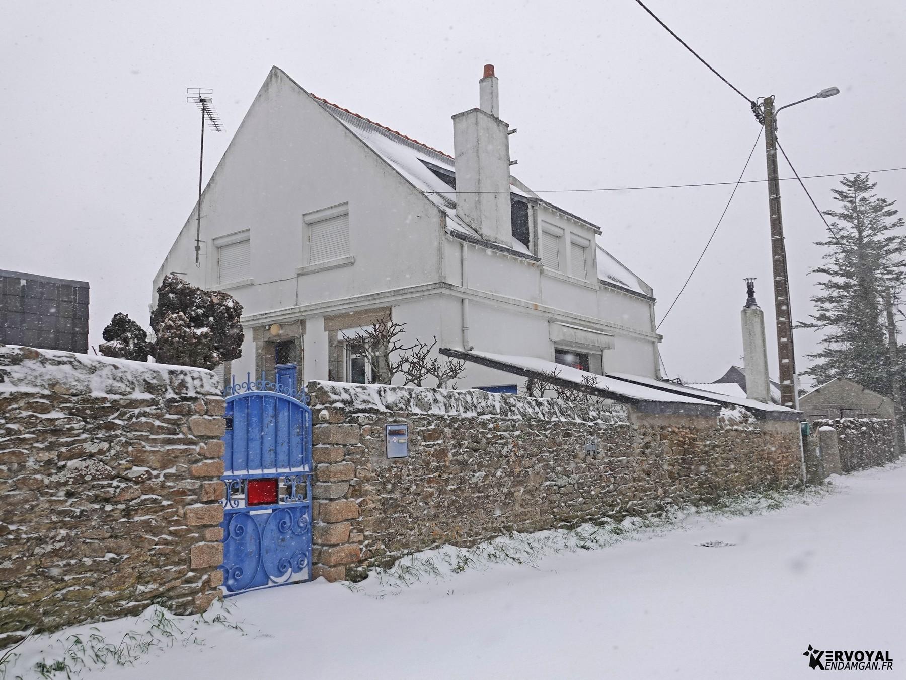 neige à kervoyal 11 février 2021 damgan morbihan (35)