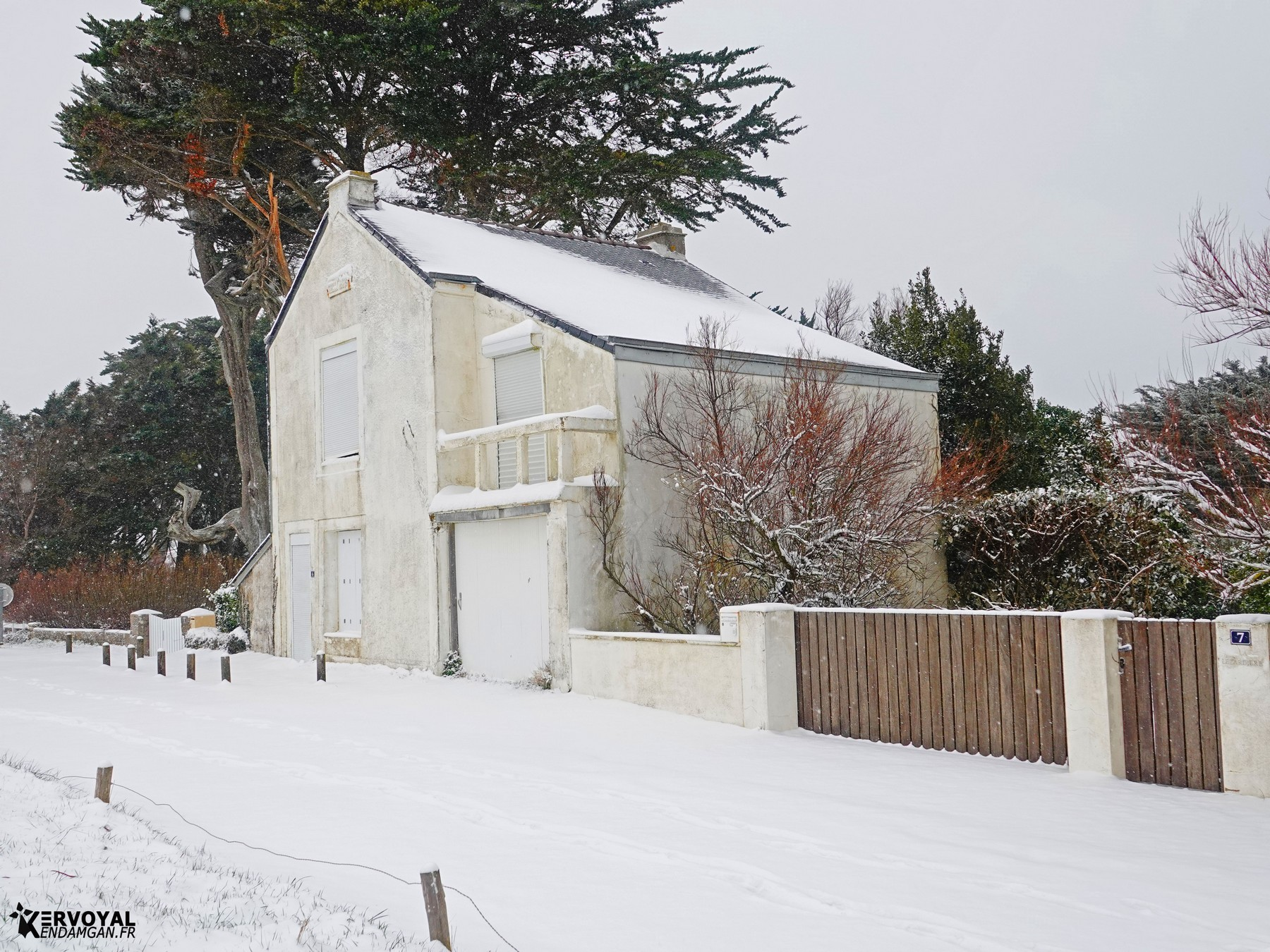 neige à kervoyal 11 février 2021 damgan morbihan (4)