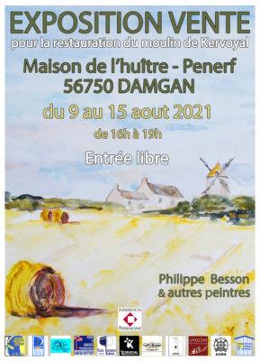 exposition vente pour le moulin de kervoyal ; été 2021