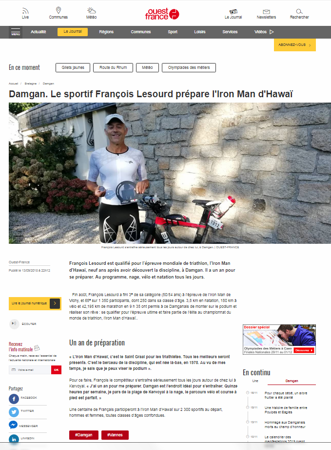 ouest france françois lesourd iron man 2019