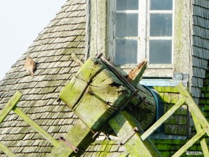 ailes cassées du moulin de Kervoyal En Damgan Morbihan