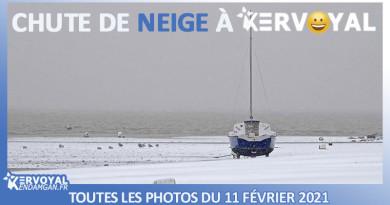 chute de neige à kervoyal damgan morbihan bretagne