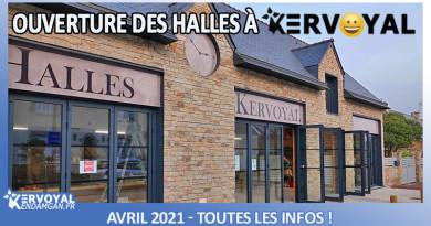 _ouverture des nouvelles halles de kervoyal en damgan avril 2021